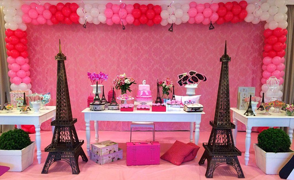 festa paris pink e preto