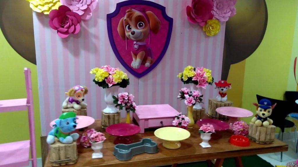 decoração festa patrulha canina feminina para menina