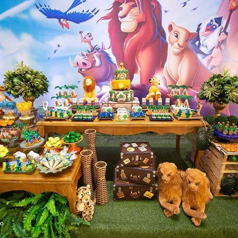 festa rei leão luxo