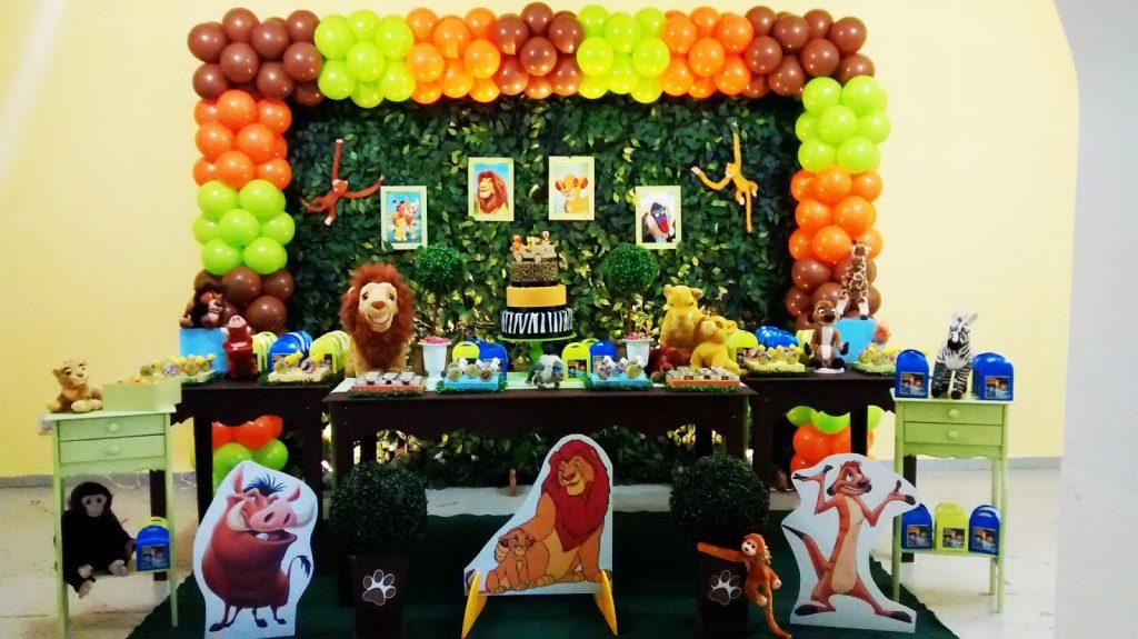 festa rei leão 1 ano