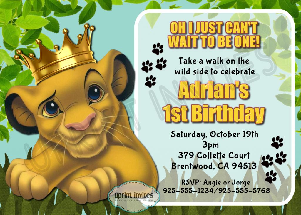 convite festa rei leão
