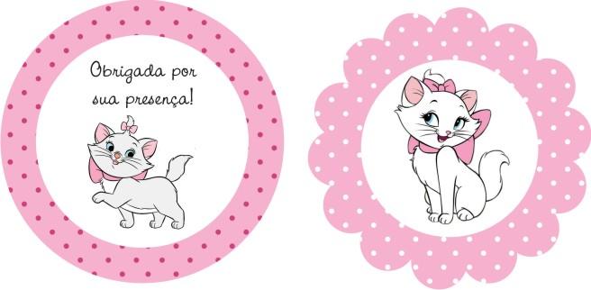 adesivo para lembrancinha gatinha marie