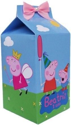 lembrancinha peppa pig caixa de leite