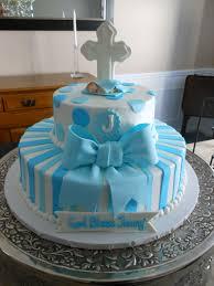 bolo batizado azul