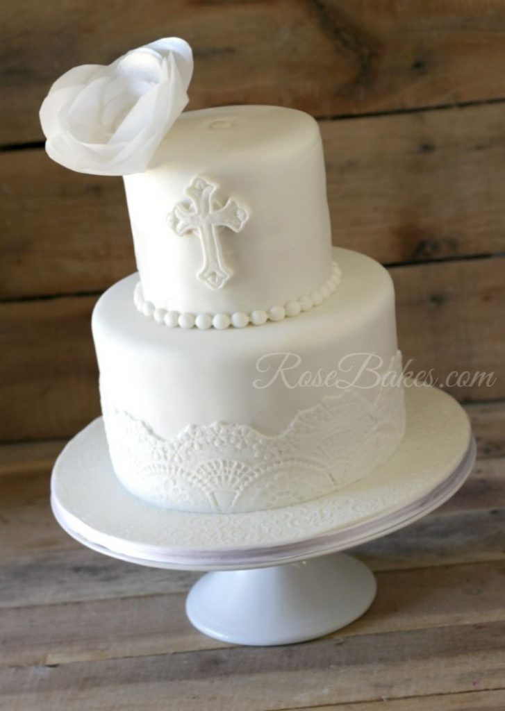 bolo batismo branco