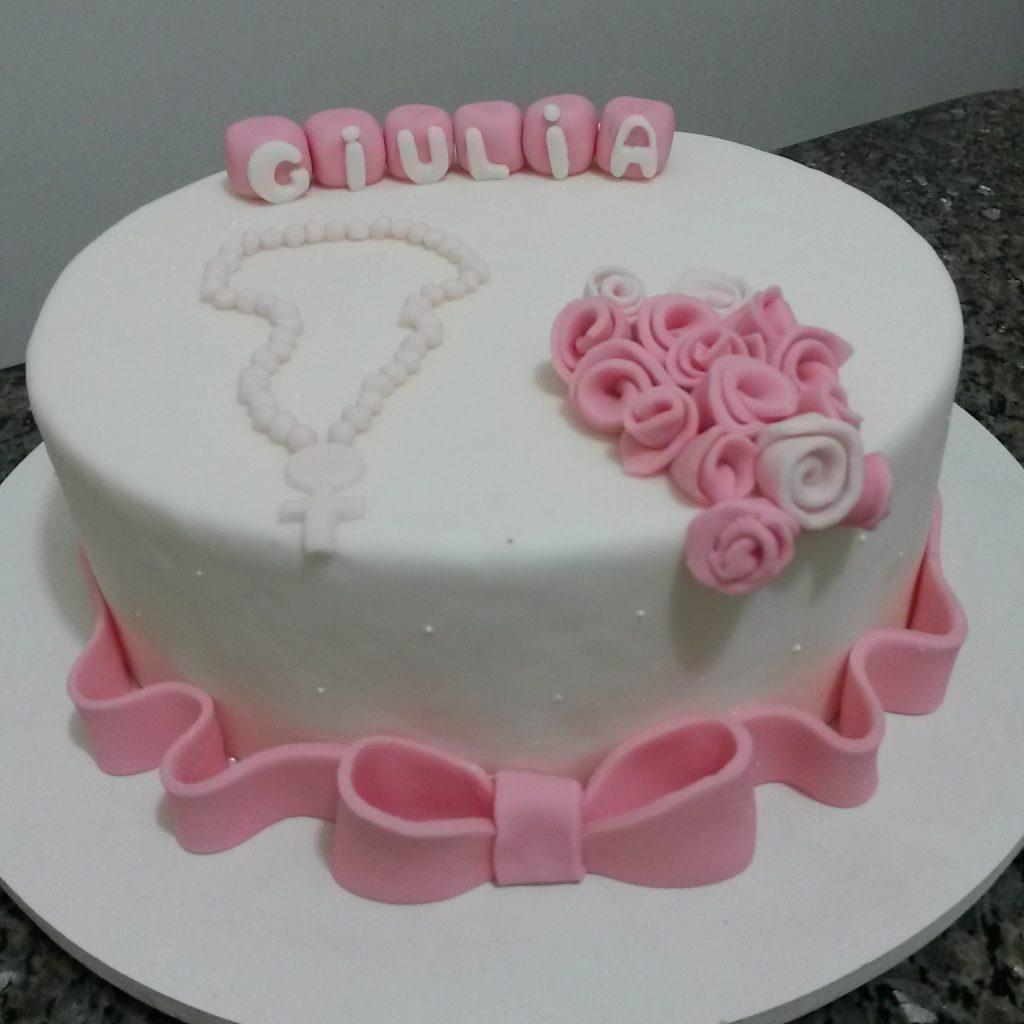 bolo batizado com terço