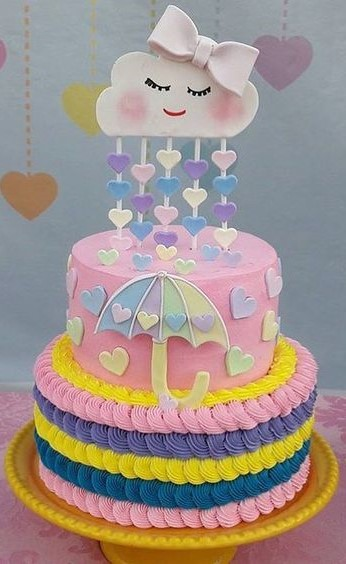 bolo chuva de amor glace