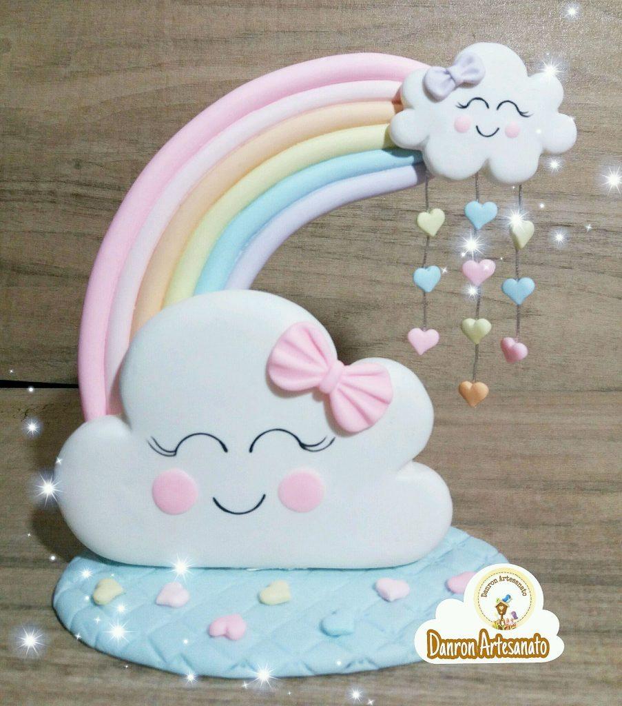 topo e bolo chuva de amor biscuit
