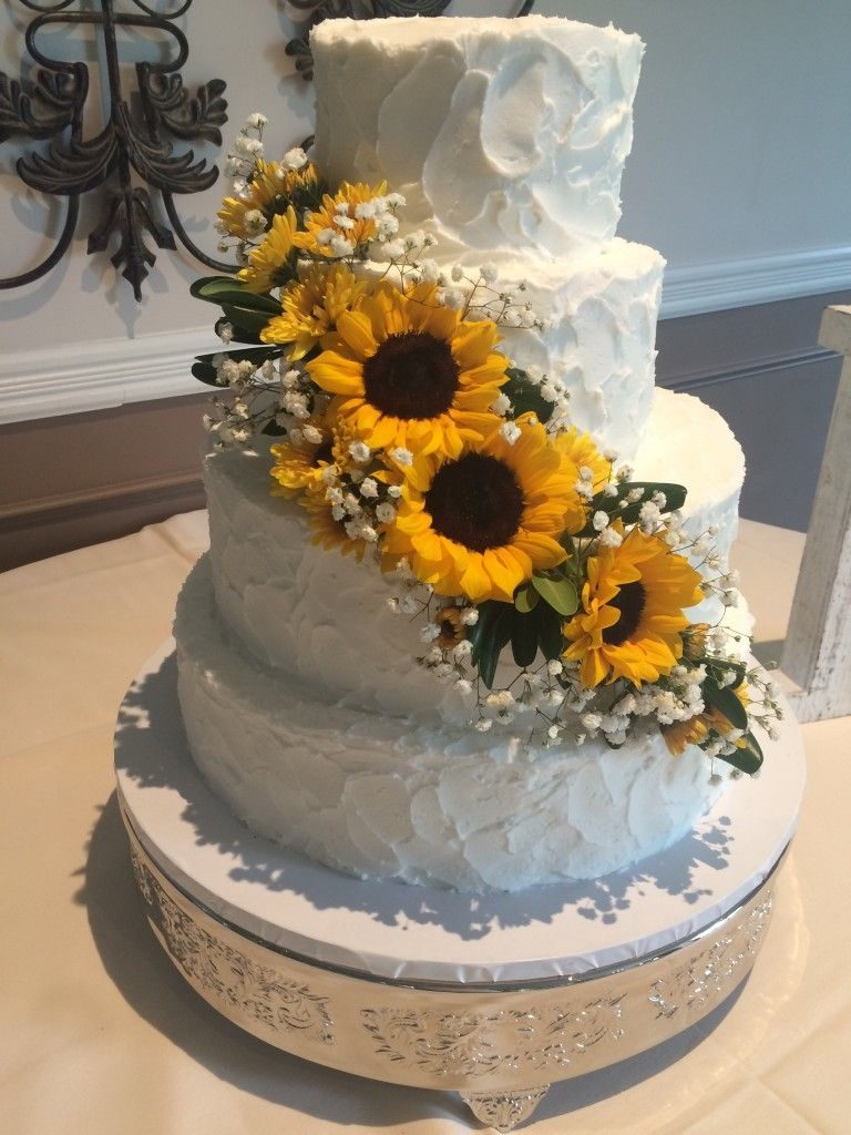 bolo girassol casamento