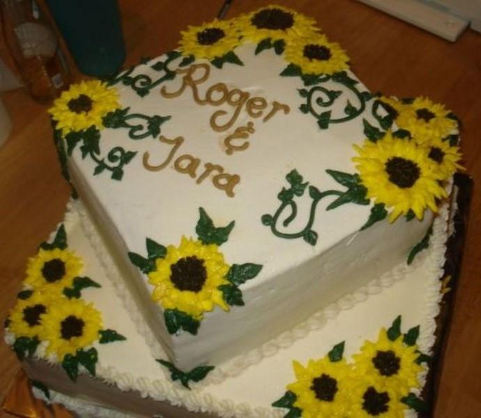 bolo girassol noivado