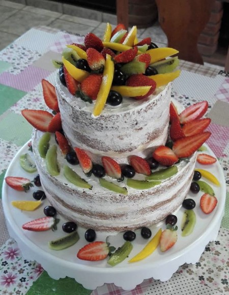 bolo havaiano com frutas
