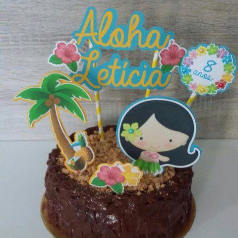 bolo havaiano infantil