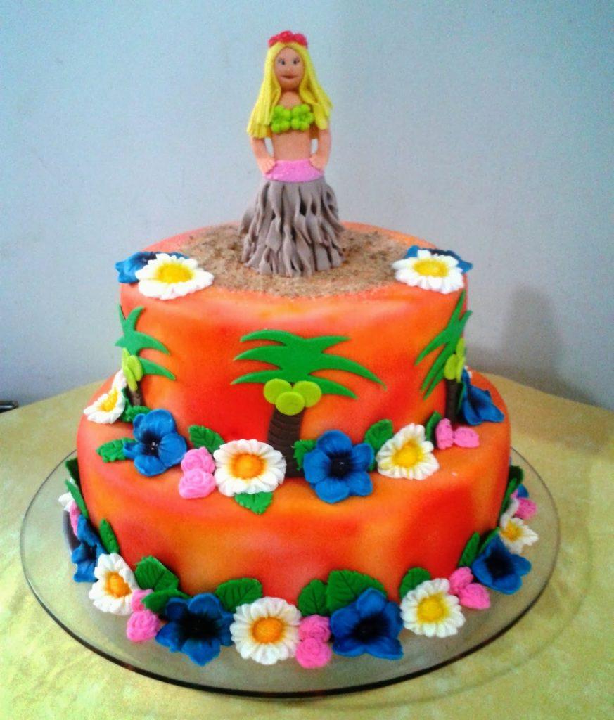 bolo havaiano com pasta americana