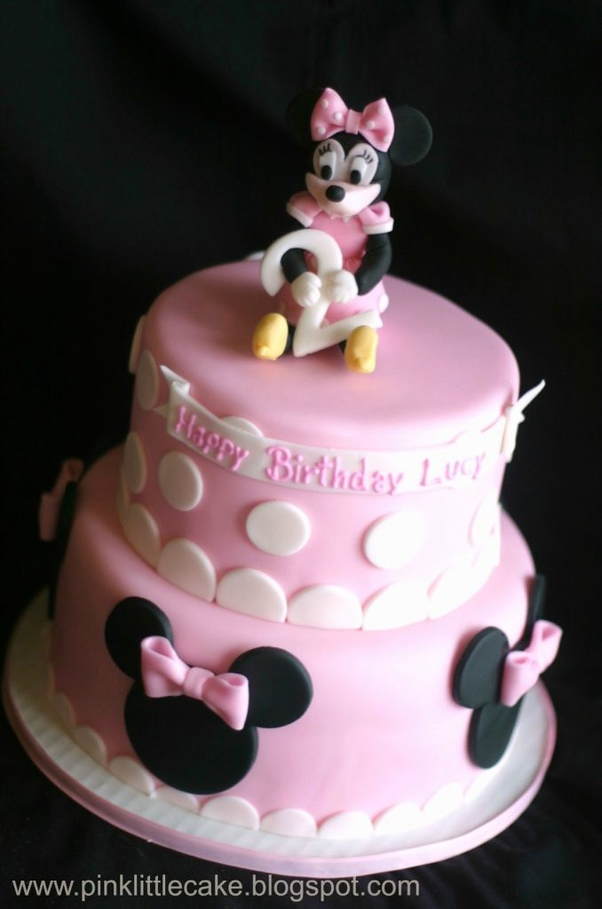 bolo Minnie rosa baby