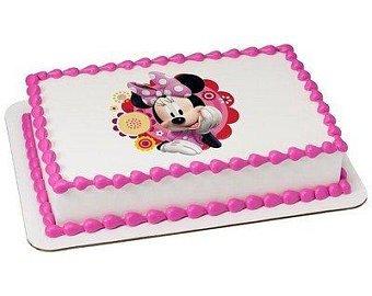 bolo Minnie rosa papel arroz