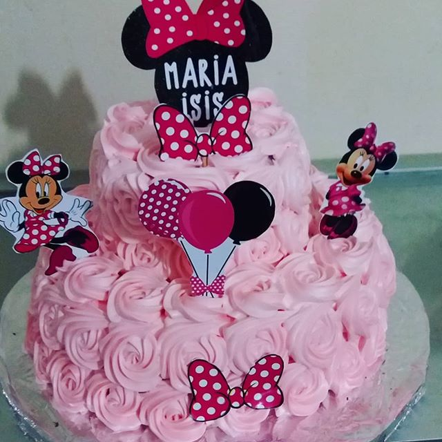 bolo Minnie rosa chantilly