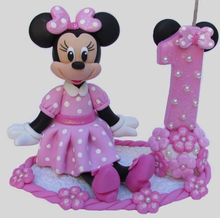 topo de bolo da Minnie rosa