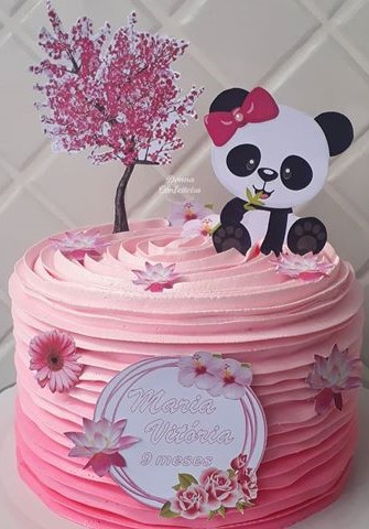 bolo panda chantilly