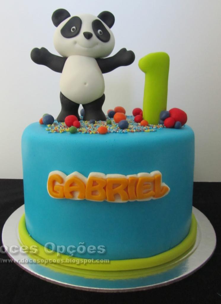 bolo panda azul