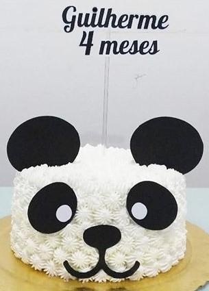 bolo panda mesversário