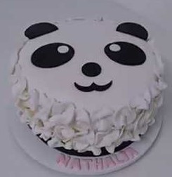 bolo panda simples