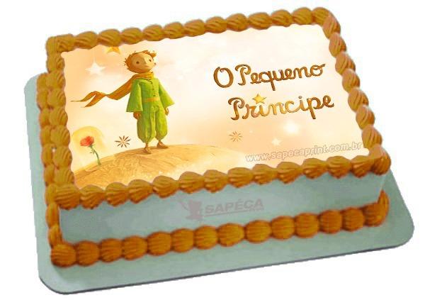 bolo pequeno príncipe papel arroz