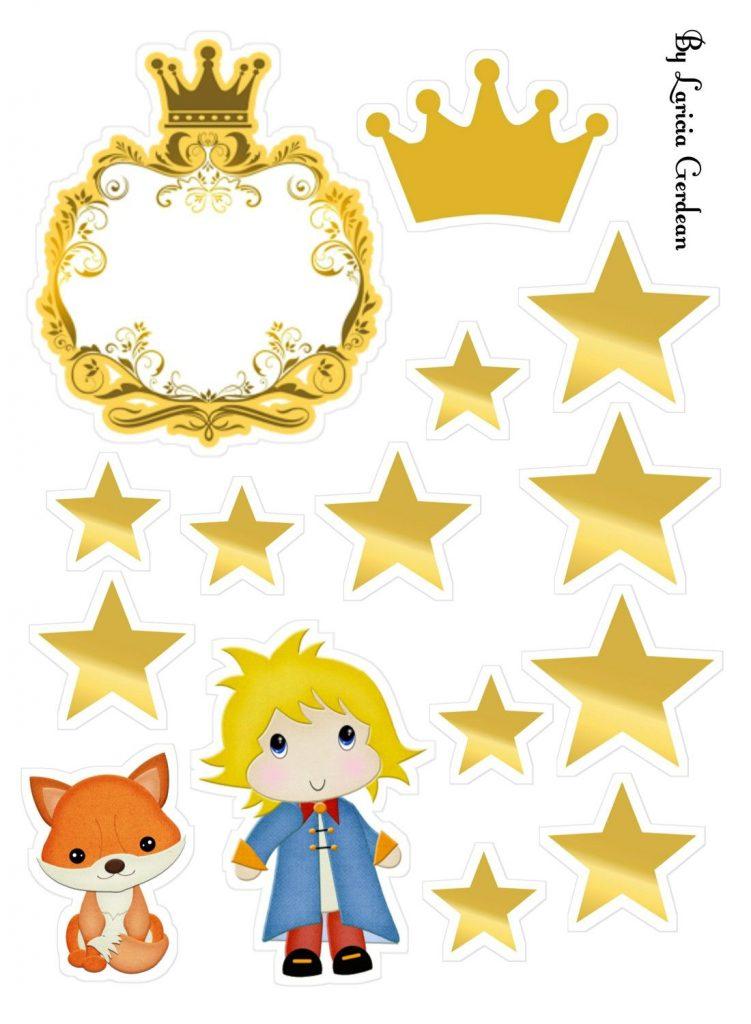 topo de bolo pequeno príncipe para imprimir