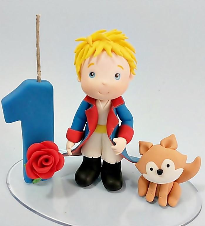 topo de bolo pequeno príncipe em biscuit