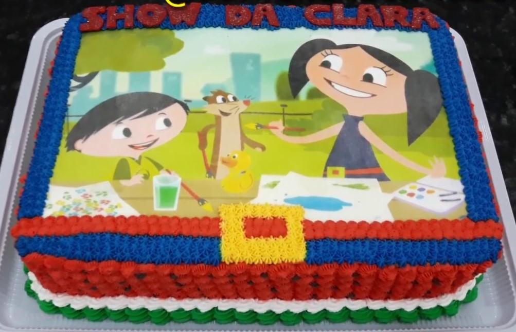 bolo show da luna com papel arroz