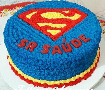 bolo super homem simples