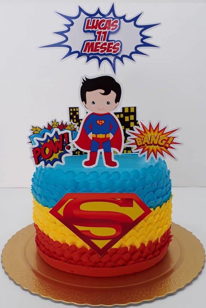 bolo super homem baby