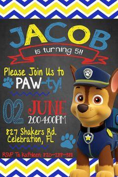 convite patrulha canina diferente