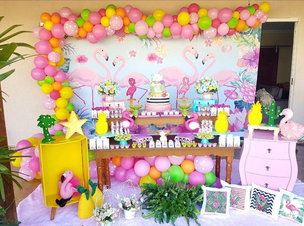 festa flamingo infantil