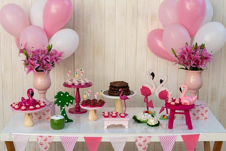 festa flamingo rosa