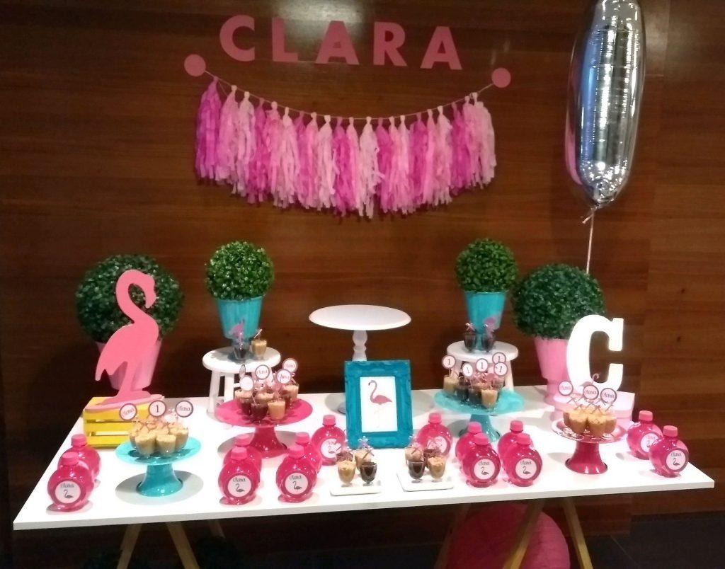 festa flamingo simples