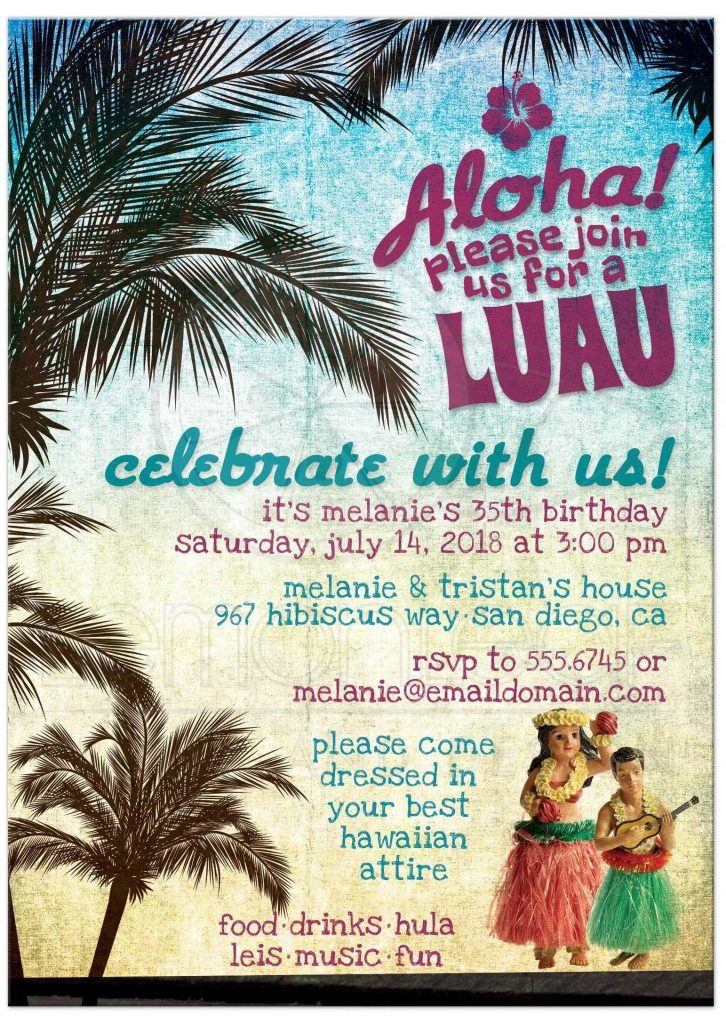 festa havaiana convite