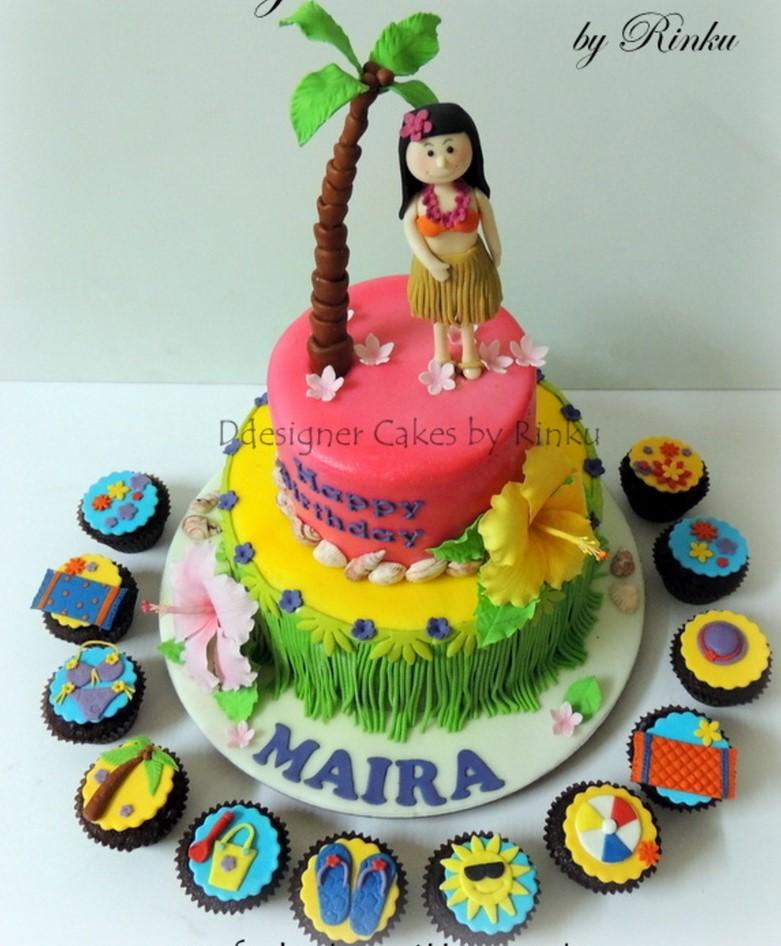 bolo para festa havaiana