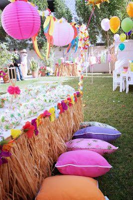 festa havaiana na praia