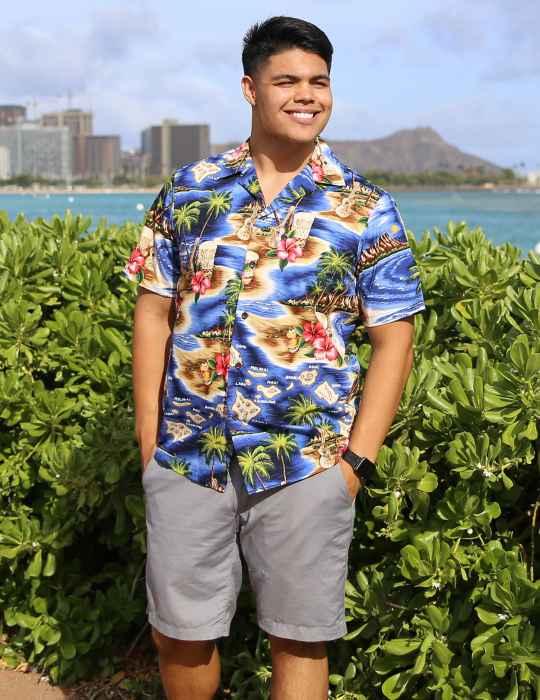 festa havaiana roupas masculina