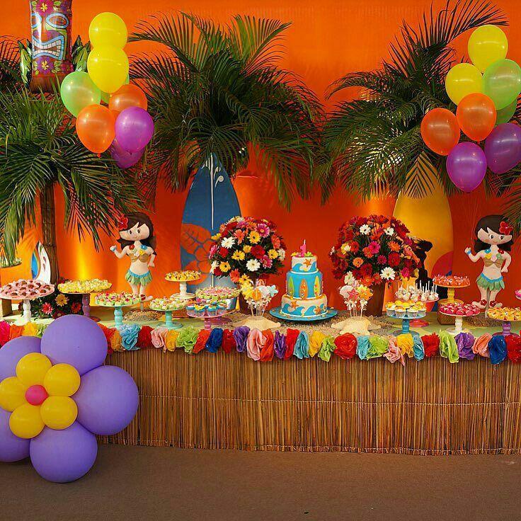festa havaiana infantil