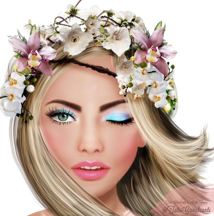 maquiagem para festa havaiana
