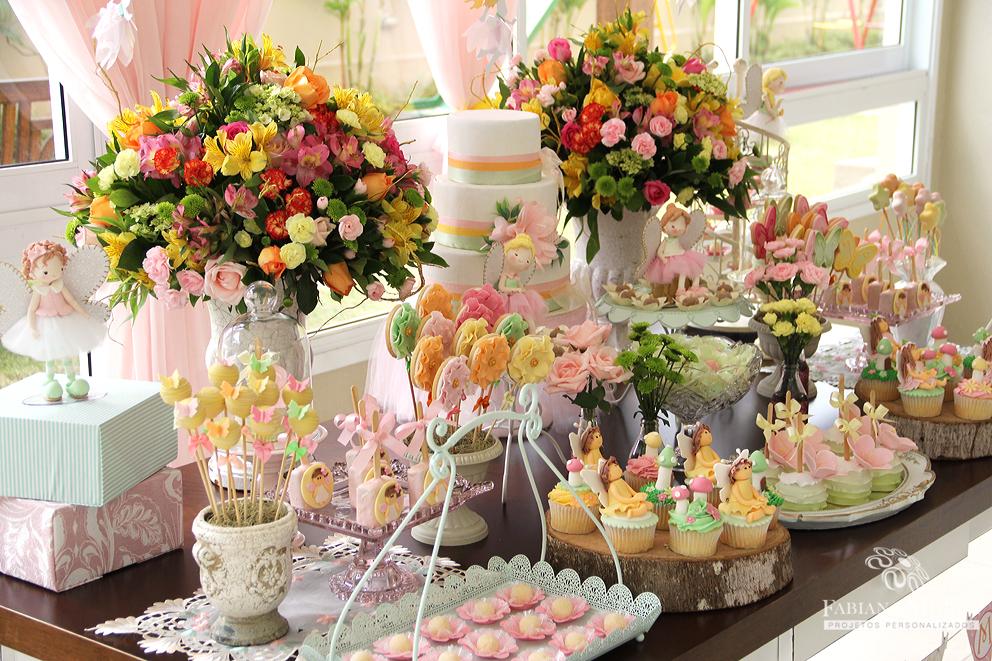 mesa de festa jardim encantado