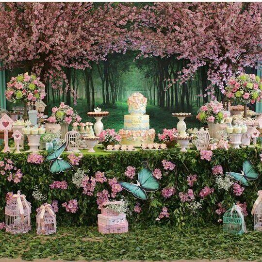 festa de quinze anos jardim encantado