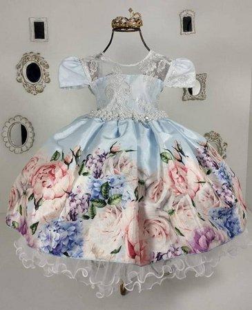 vestido de festa jardim encantado
