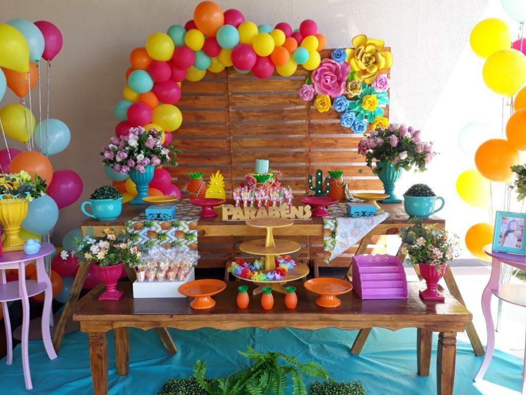 festa tropical simples