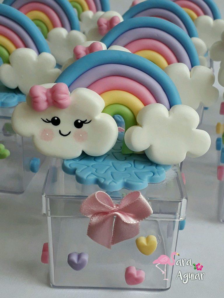 lembrancinha chuva em biscuit