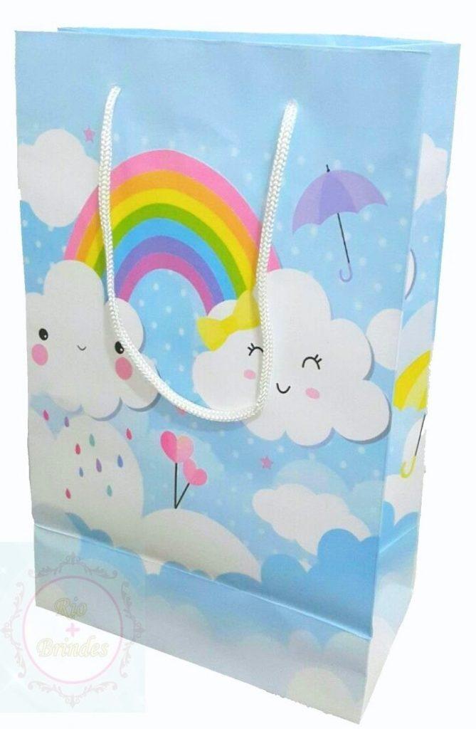 sacola lembrancinha chuva de amor