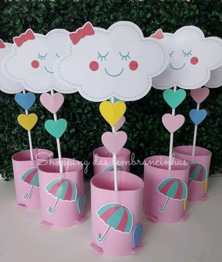 lembrancinha de mesa chuva de amor