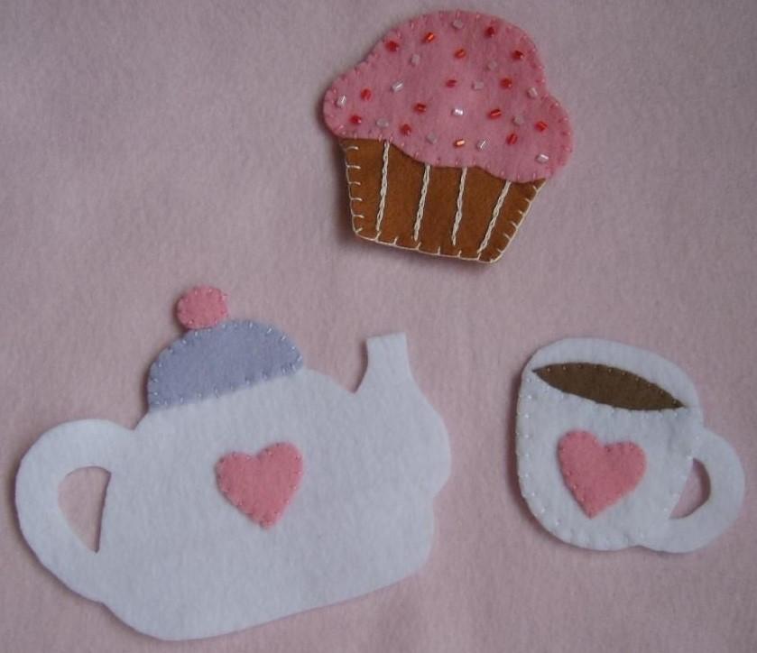 lembrancinha chá de panela em feltro