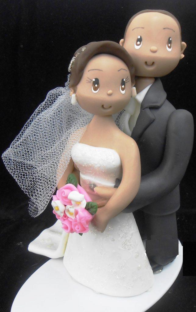 topo de bolo para casamento biscuit